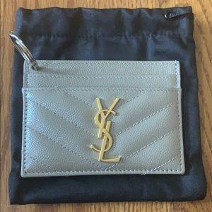 Yves Saint Laurent cardholder with keychain